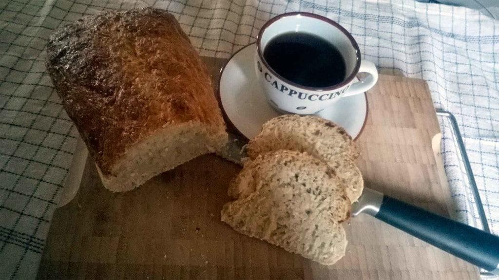 brød bagt på blomkålsris