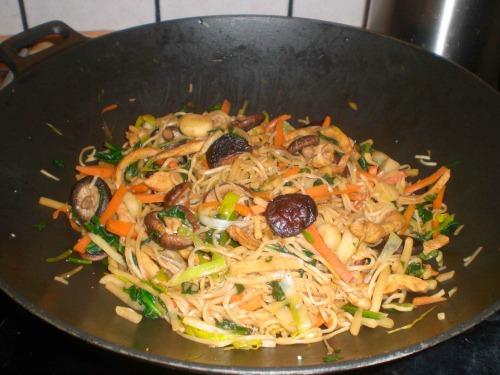 wok med kylling