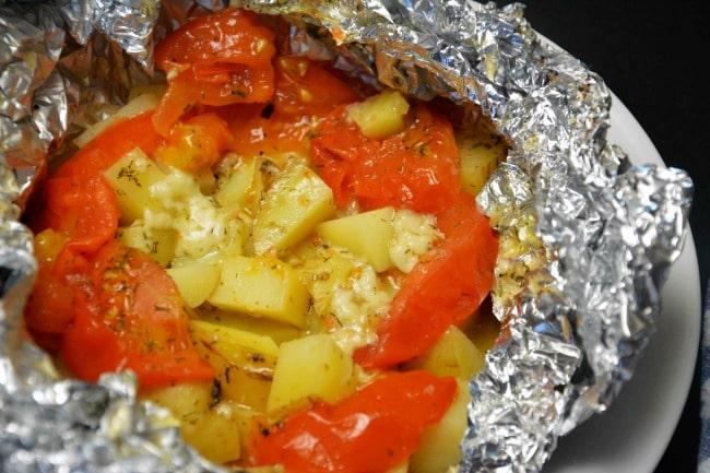 Kartofler på grill